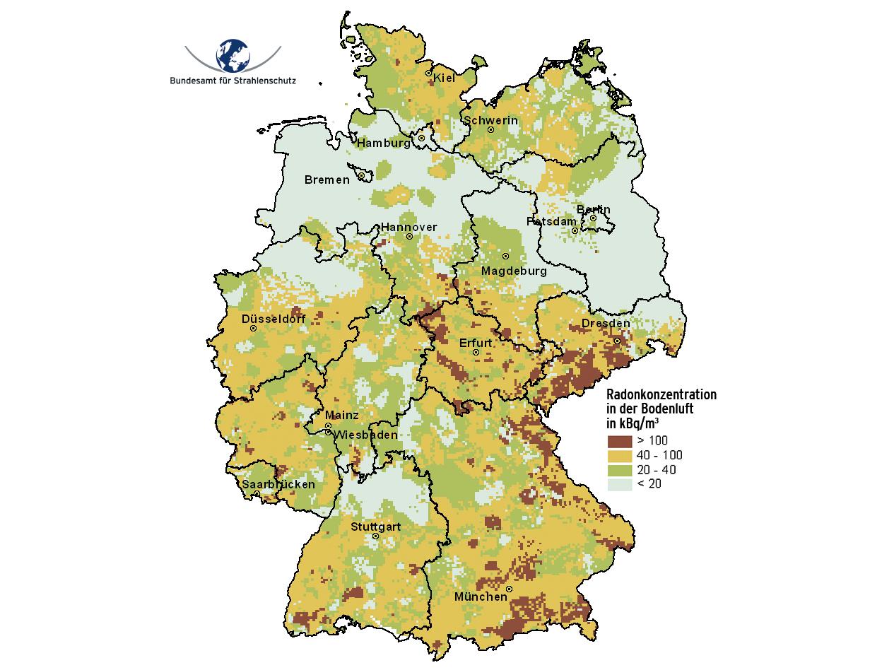 Radon Karte Deutschland.Asse Radon In The Soil The Radon Map Of Germany
